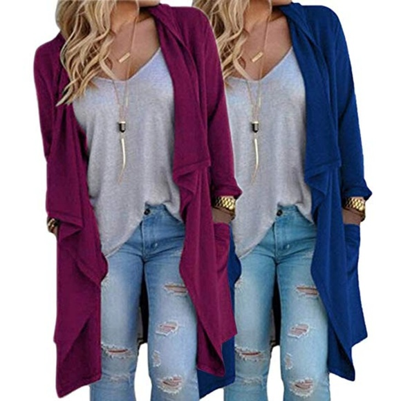 Jackets & Blazers - NEW Women's Long Duster Sweater Cardigan